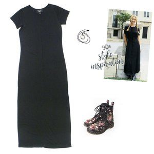 Emanuel Ungaro Liberte Vtg 90s Black Maxi Dress